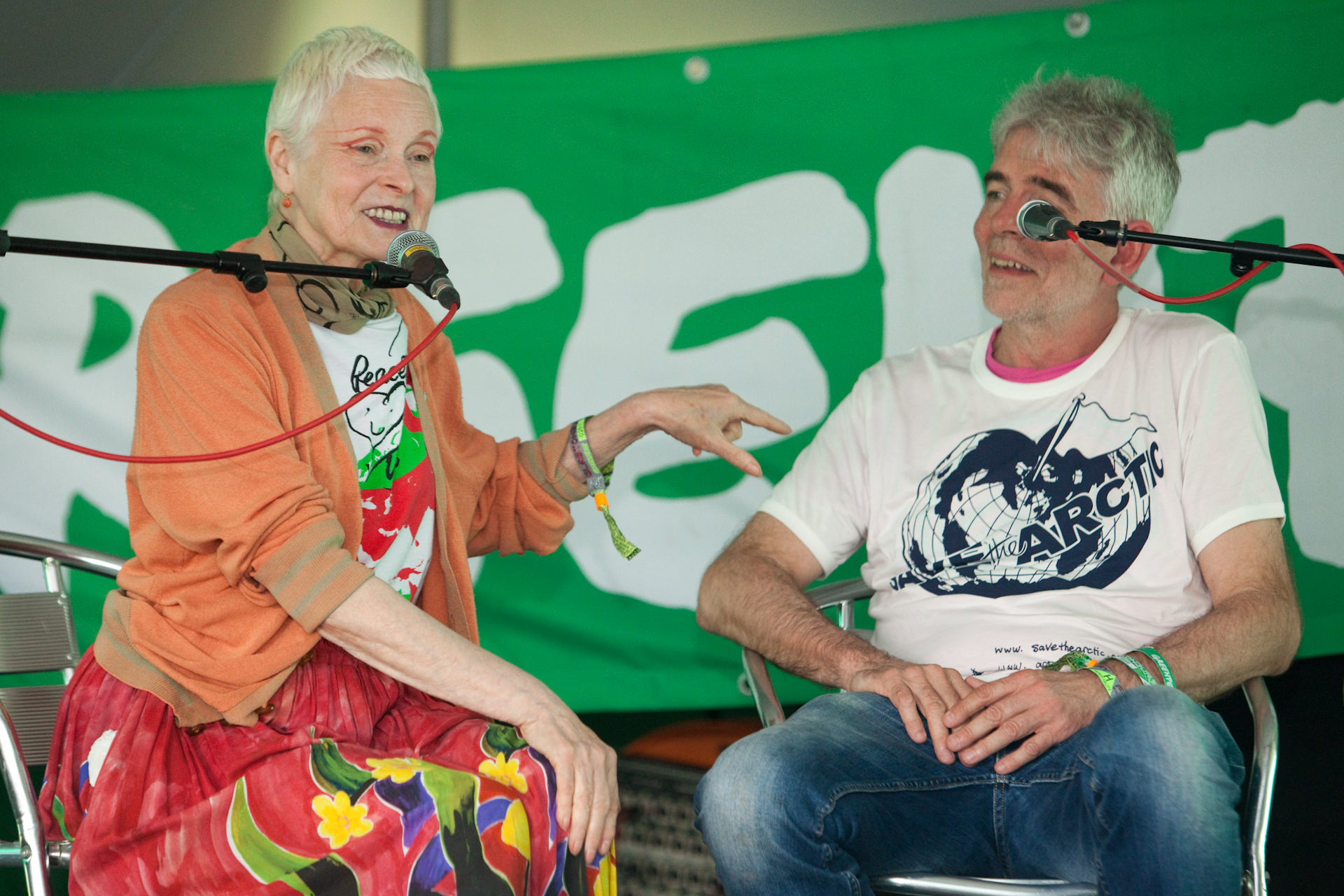 Vivienne Westwood at Glastonbury