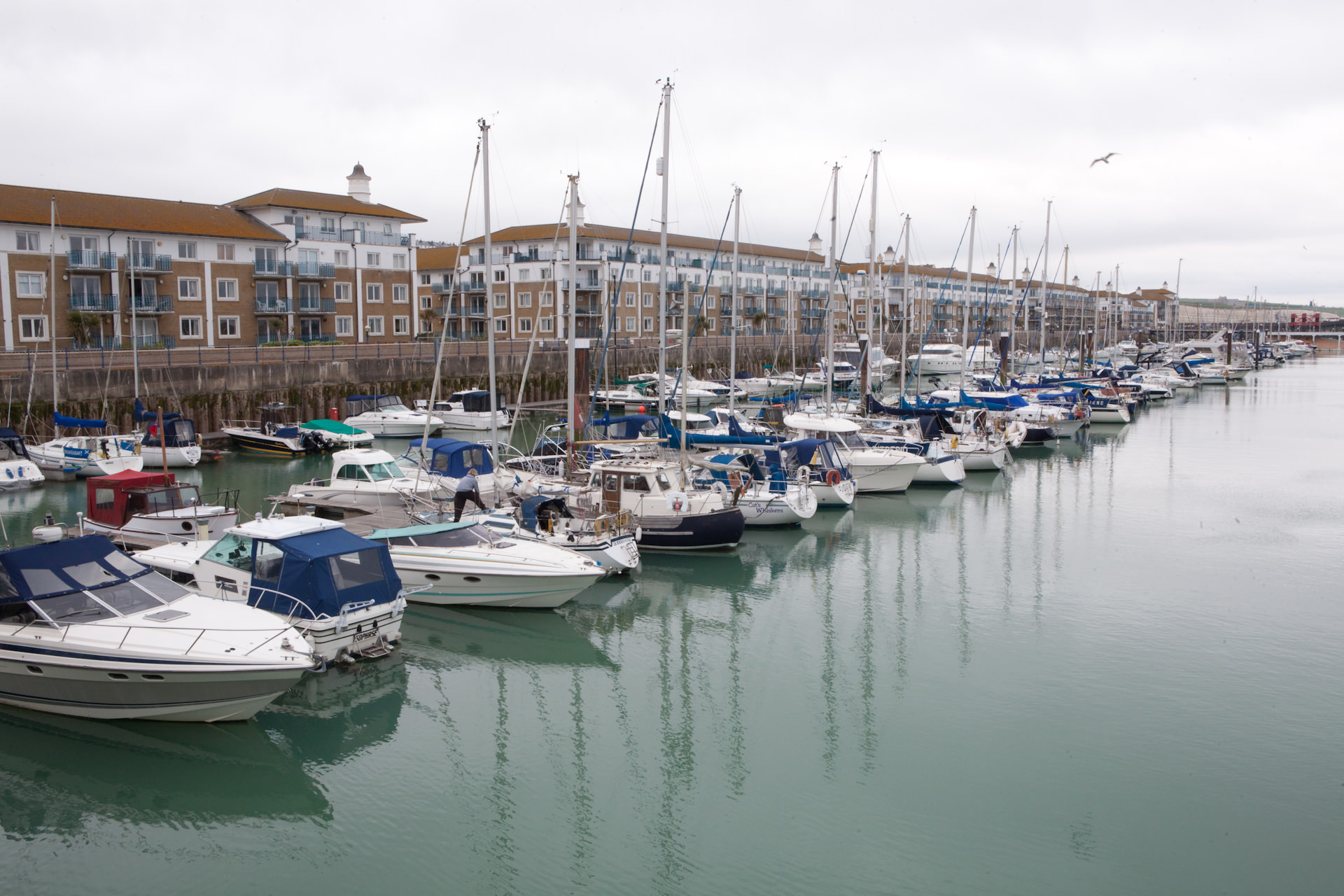 Brighton Marina. Silo is planning a zero carbon food delivery of food that comes from abroad. The food will be delivered on a sailing boat, called Tres Hombres, which will end it's journey here. Tres Hombres is an engineless sailing cargo ship and an ambassador for clean & sustainable transport over sea.