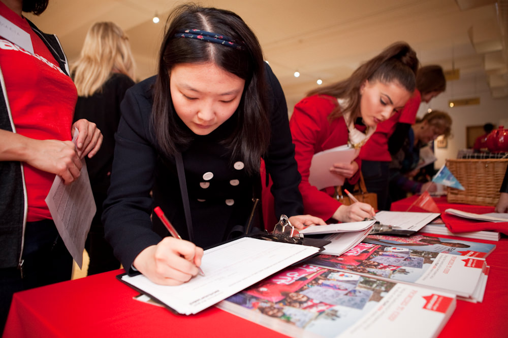 6th February 2016. Actionaid Campaigners Conference. Resource for London, 356 Holloway Road. N7 6PA. A day of solidarity and celebration with grassroots activists from developing countries. Emily Yuanhezhang and Catalina Anca Toader (right signing).