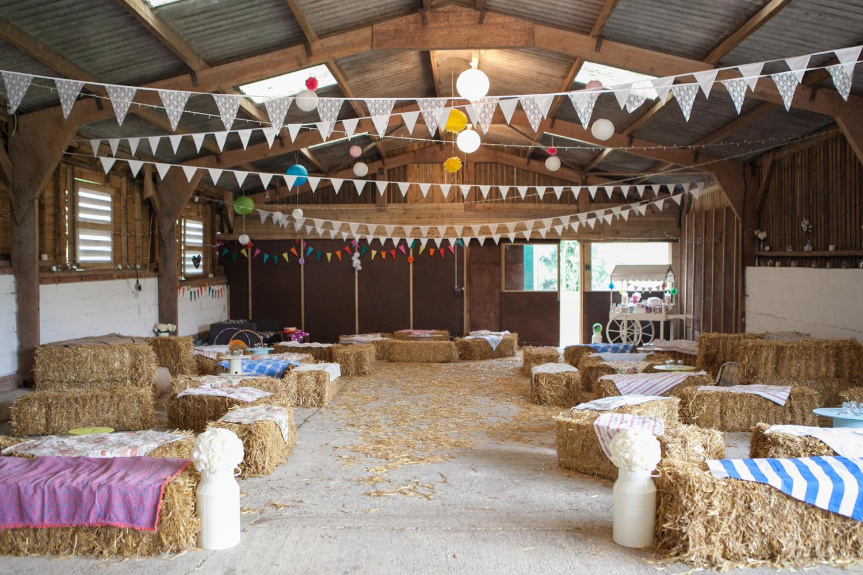 Gina & Simon, August 2016. Colourful Barn Wedding Photography at Furtho Manor Farm in Milton Keynes.