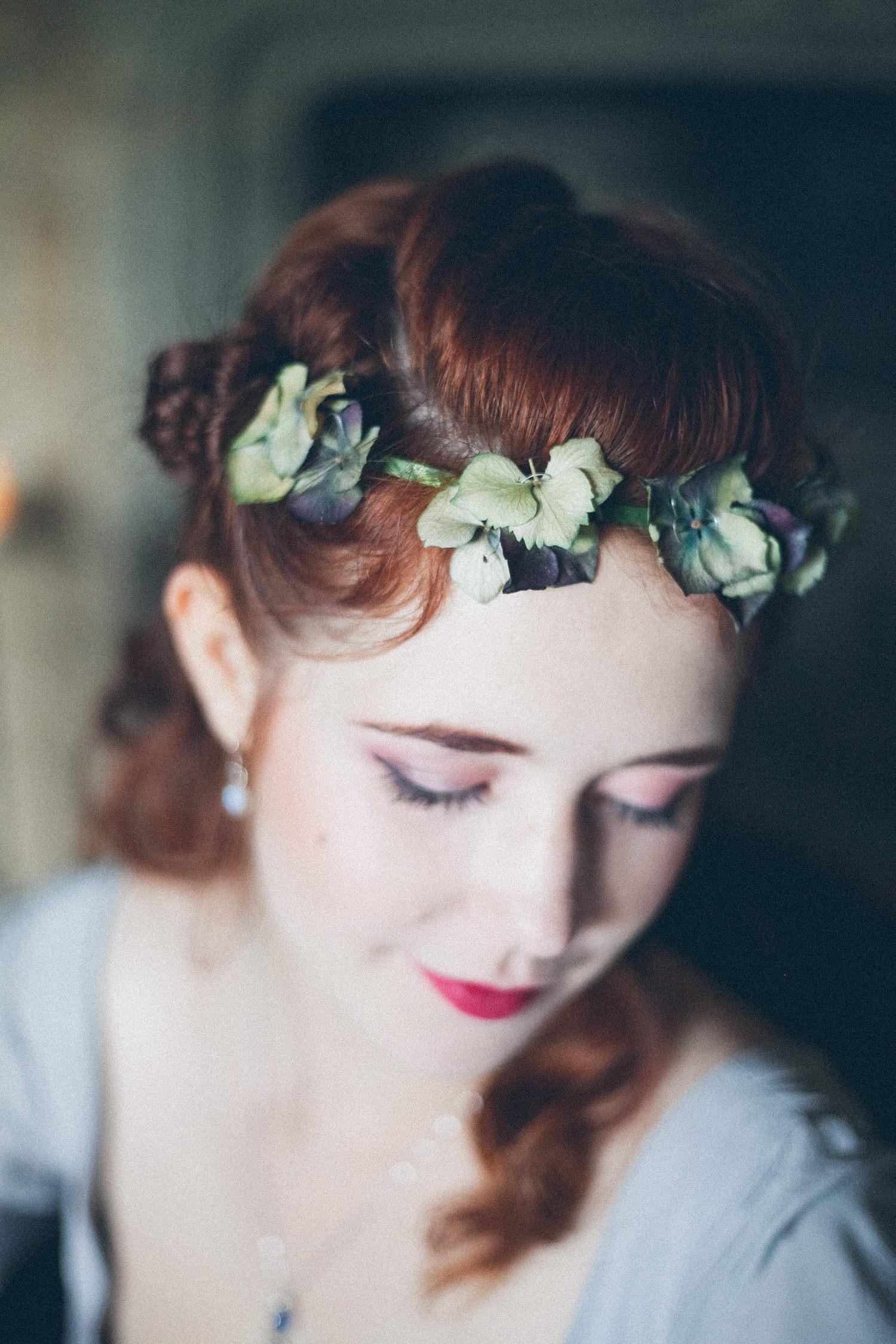 Alternative bridal shoot at Pengersick Castle, Penzance, Cornwall.