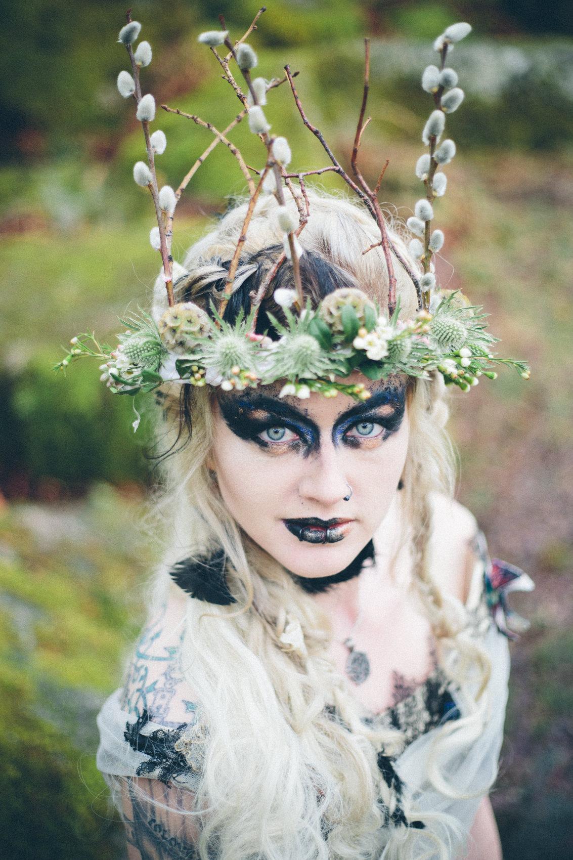 Unseelie Faeries Bridal Shoot | Wistmans Wood