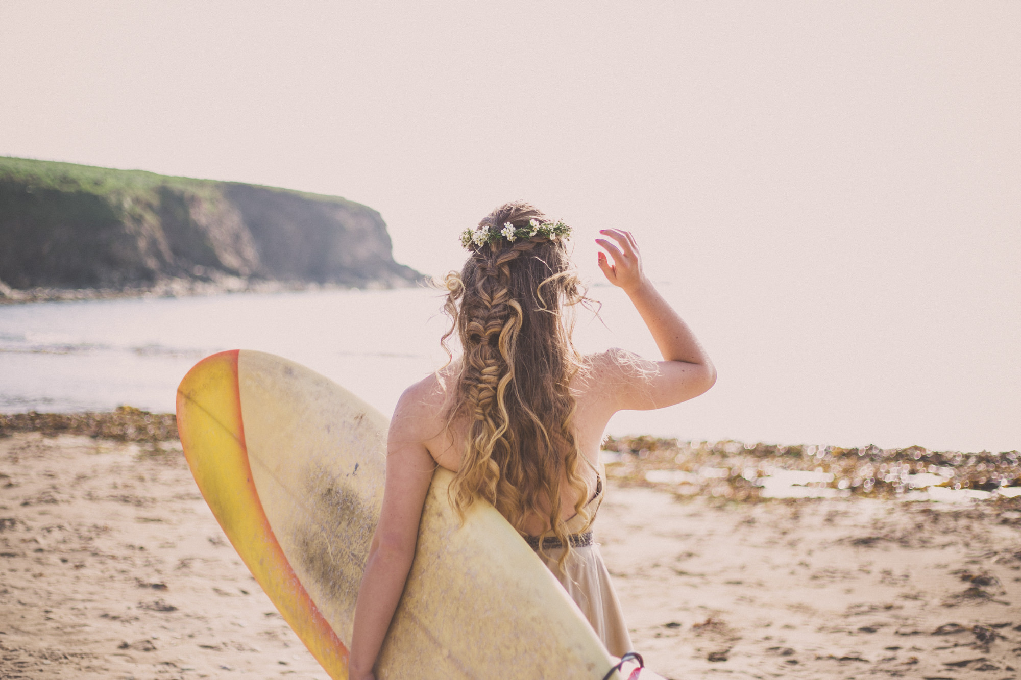 Surfer Bride | Beach Wedding Photography