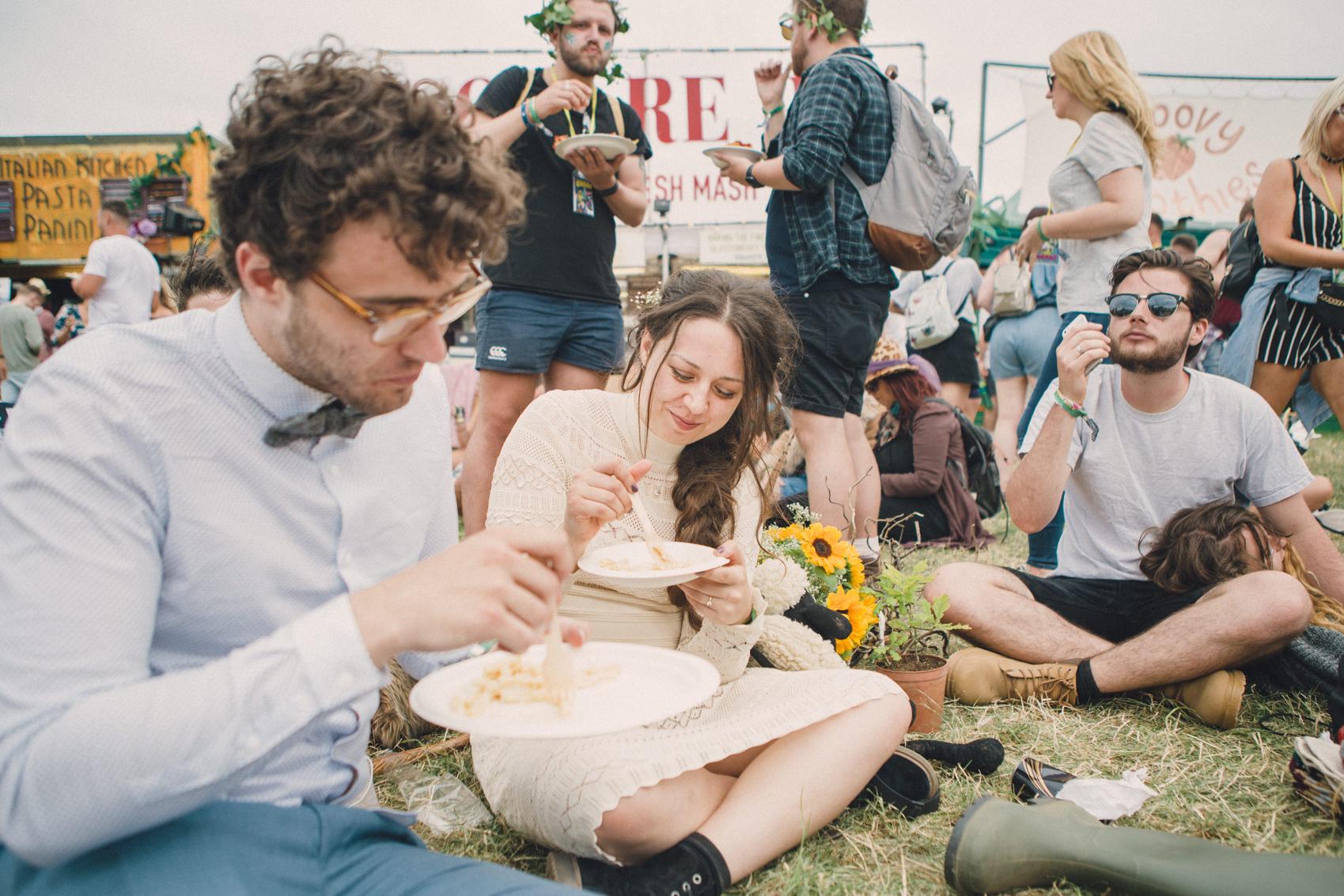 Gaia & Calum | Glastonbury Festival Wedding