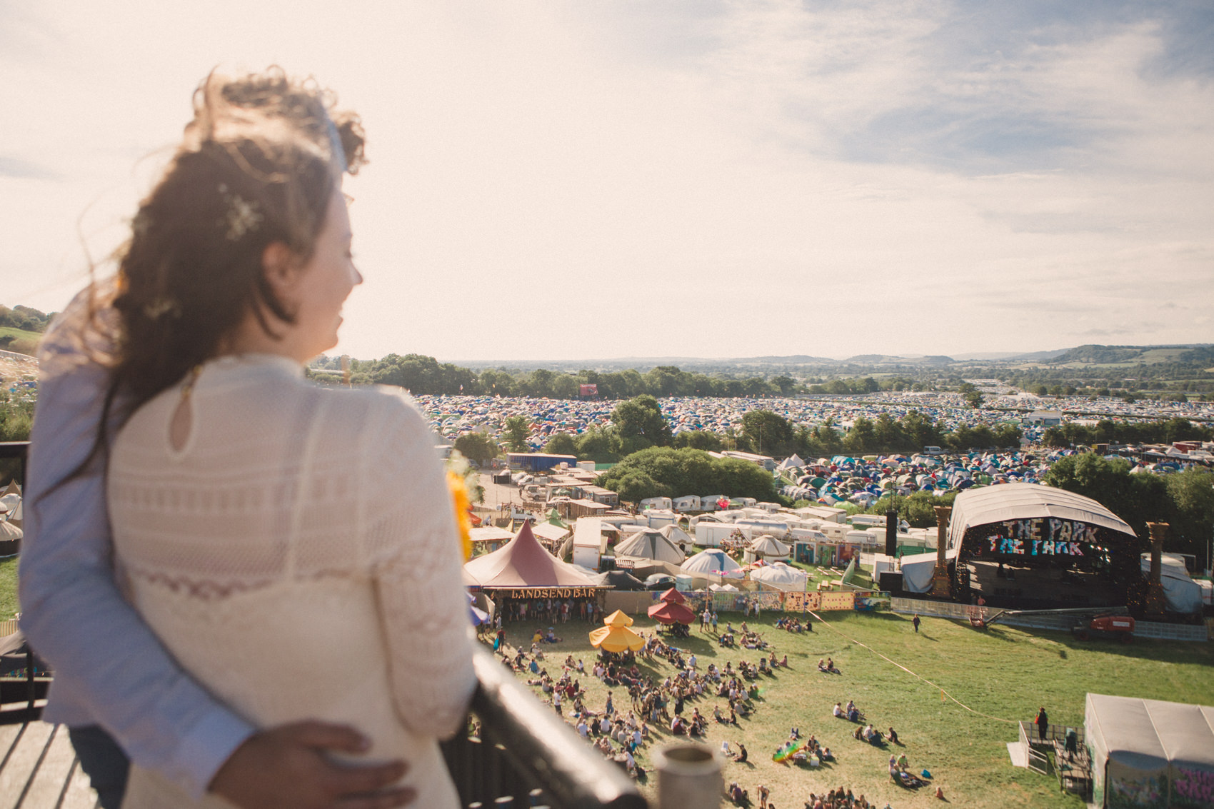 Gaia & Calum | Glastonbury Festival Wedding