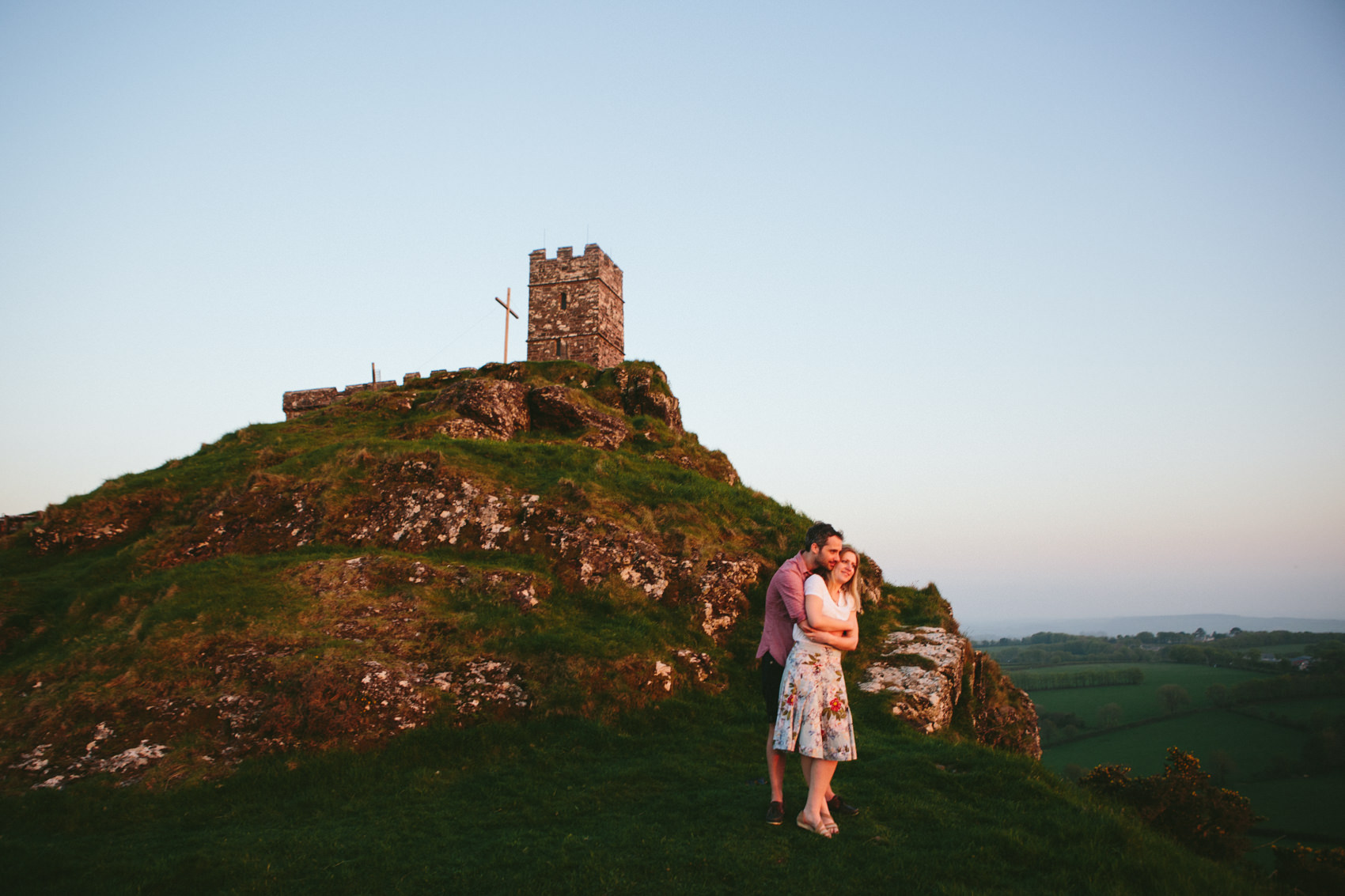 Engagement Adventures | Devon Wedding Photographer. Brentor Engagement, Brentor wedding, Brentor Church
