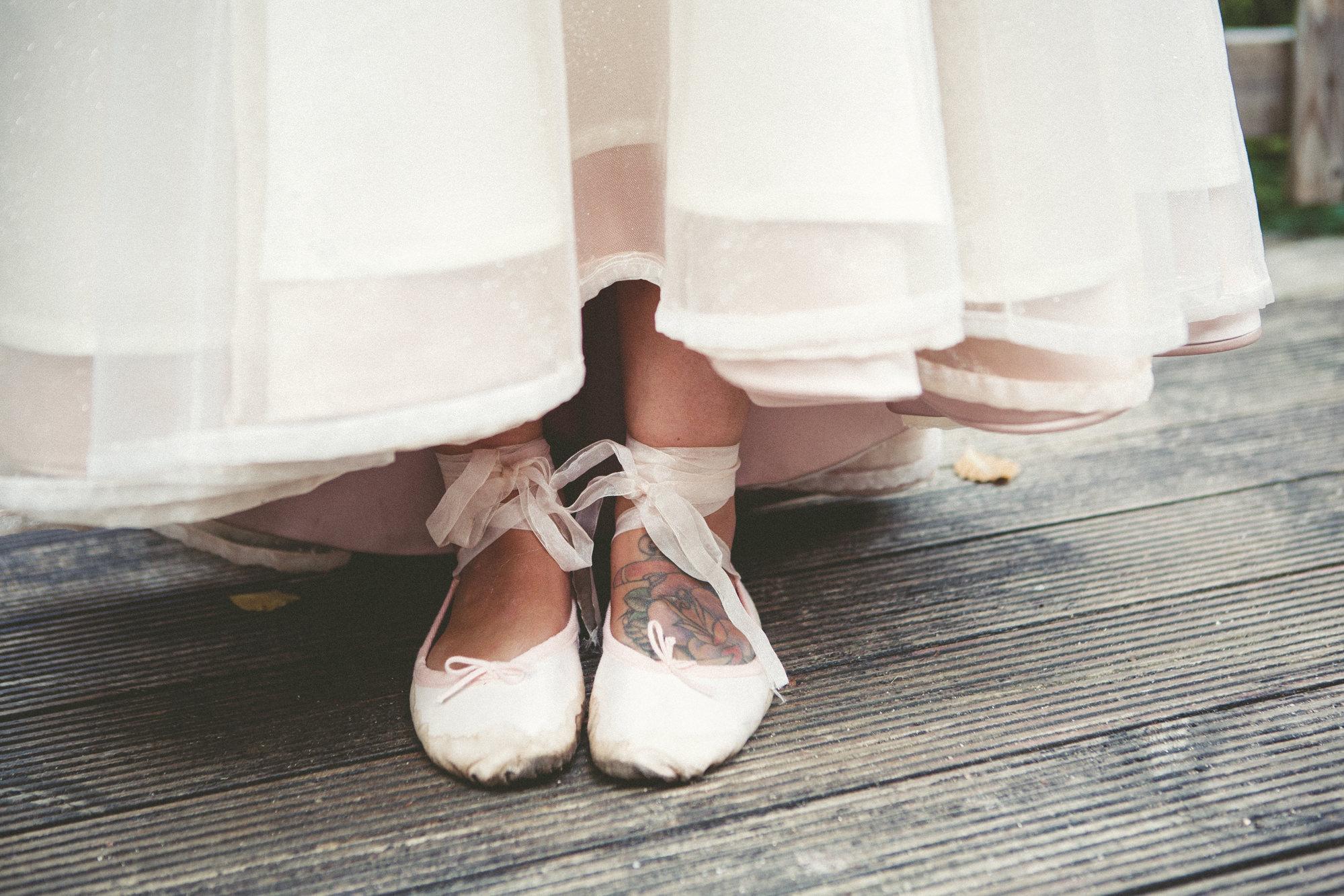 Kim & Pete Wedding Ballet Shoes