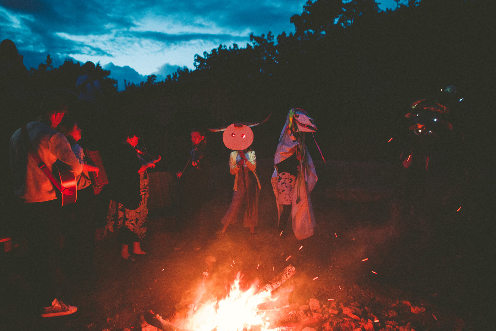 Camp fire Wedding Devon Wedding Photography