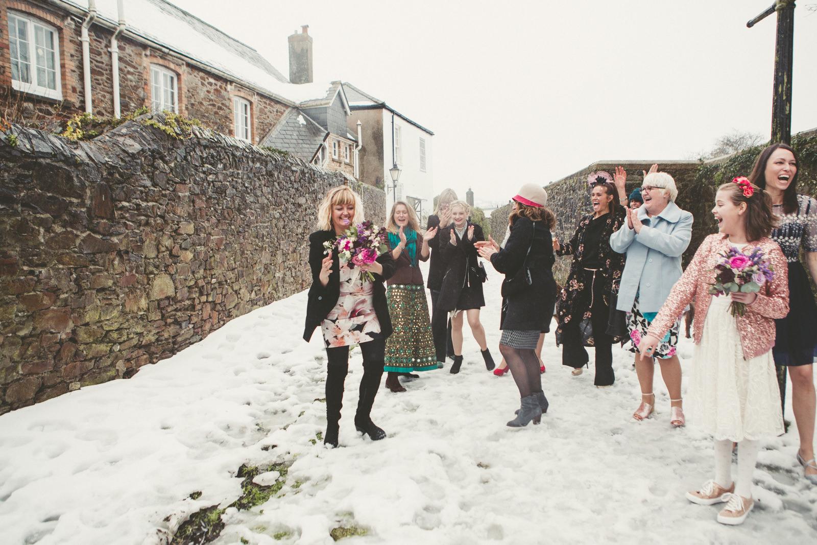 Snow Wedding Devon