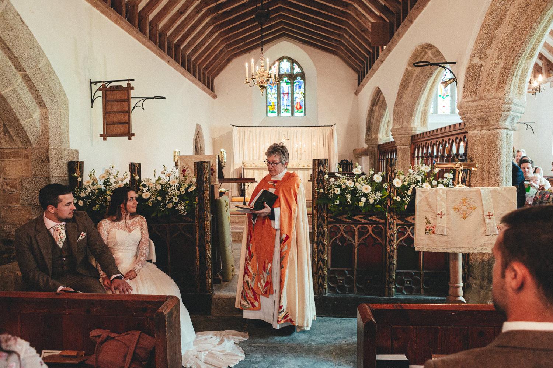 St Enodoc Church wedding photography