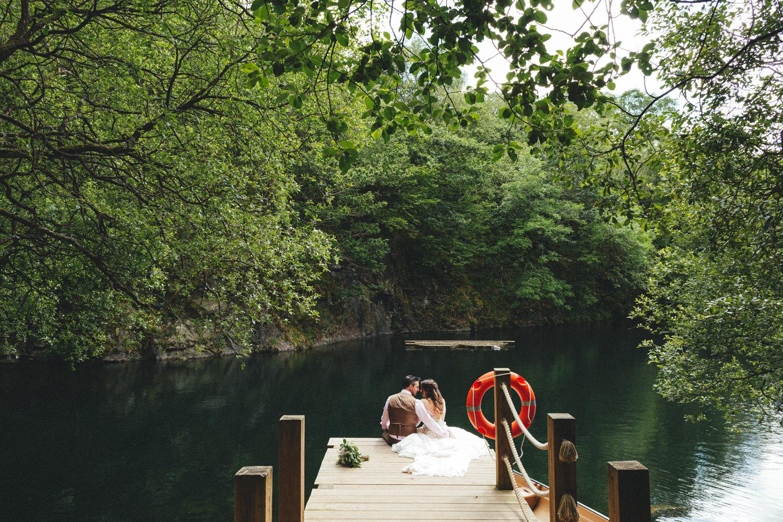 Cornish Tipi Wedding Photographer, Cornish Tipi Weddings, Wedding Photography at Cornish Tipi weddings, lakeside portraits