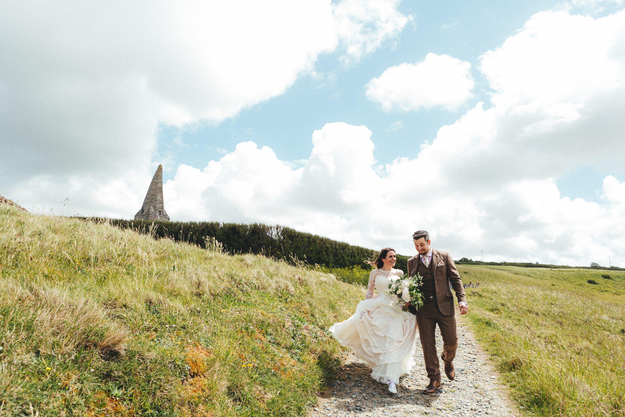 St Enodoc Church. Cornwall wedding