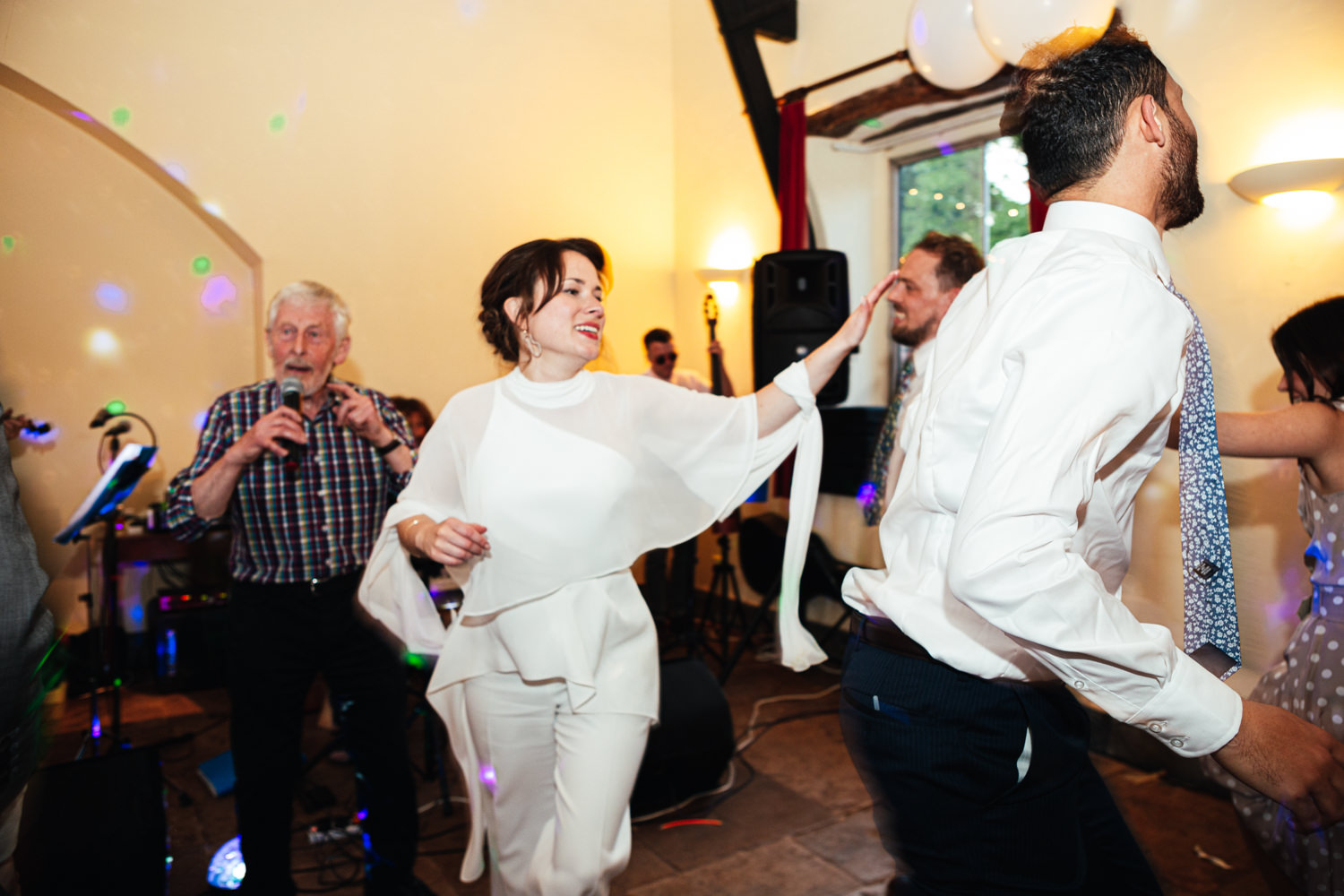 ceilidh dancing at sharpham house
