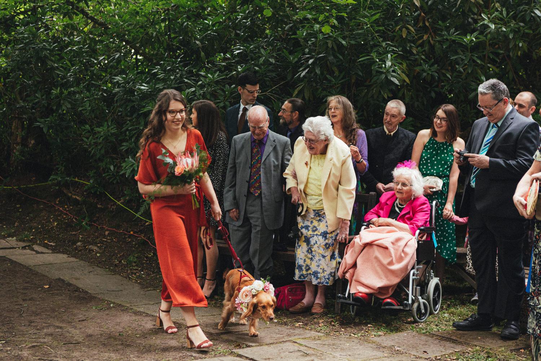 woodland wedding ceremony, outdoor wedding ceremony, forest wedding, woodland wedding, Quantock Hills, Great Wood Camp Wedding, Great Wood Camp Wedding Photography,