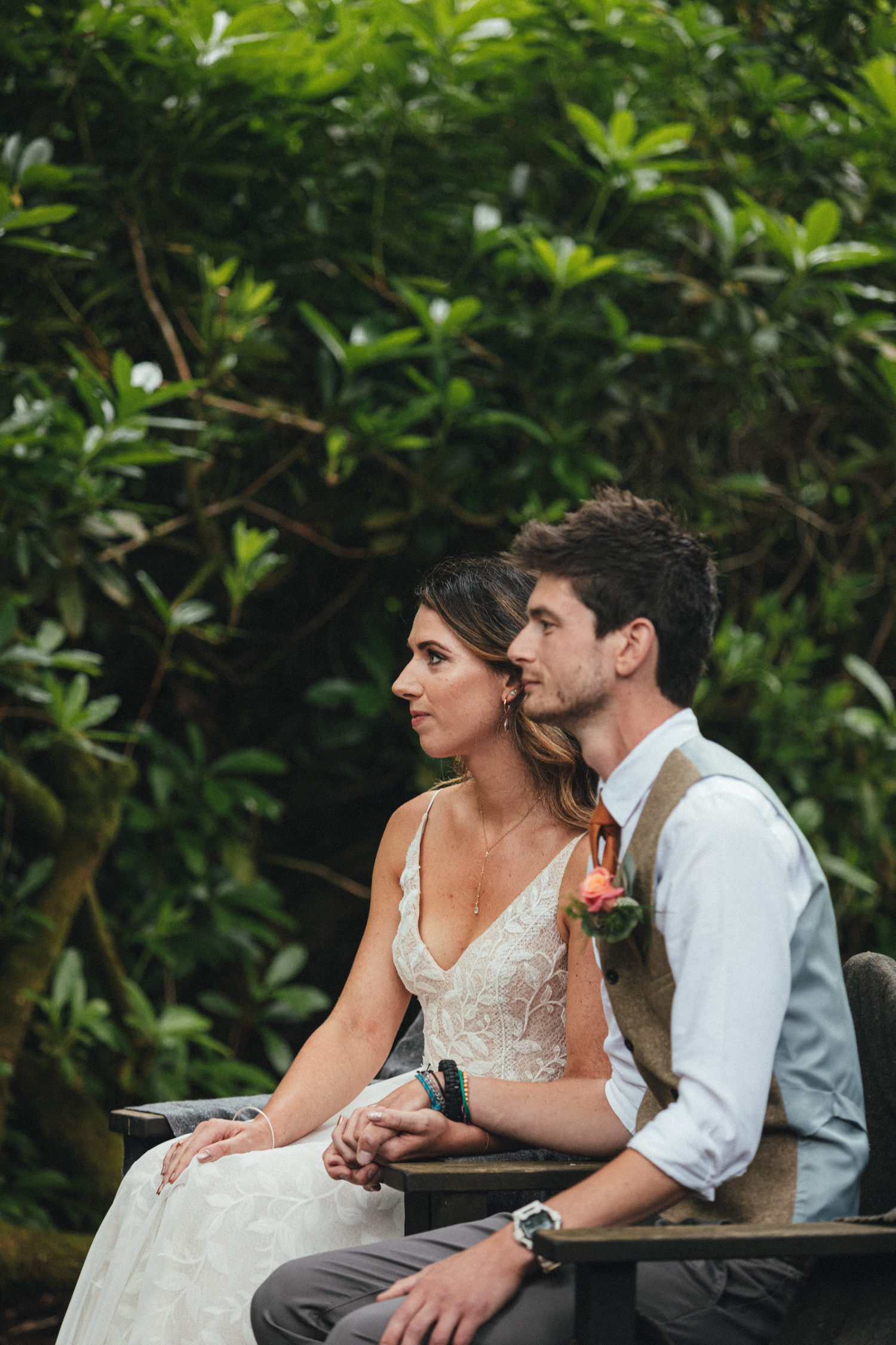 Bride and Groom, woodland wedding ceremony, outdoor wedding ceremony, forest wedding, woodland wedding, Quantock Hills, Great Wood Camp Wedding, Great Wood Camp Wedding Photography