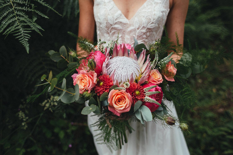bridal bouquet, bride bouquet, colourful flowers, wild woodland wedding
