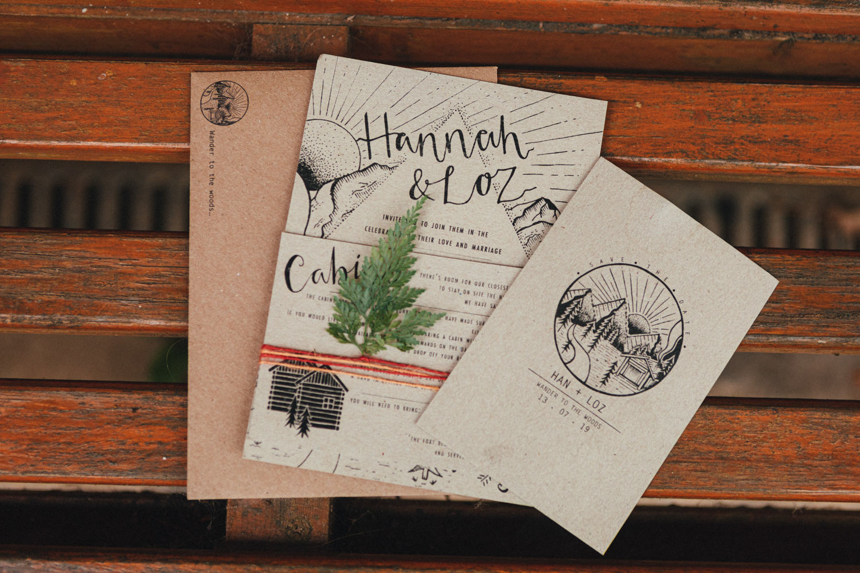 woodland wedding stationary, wedding stationary, fern, design