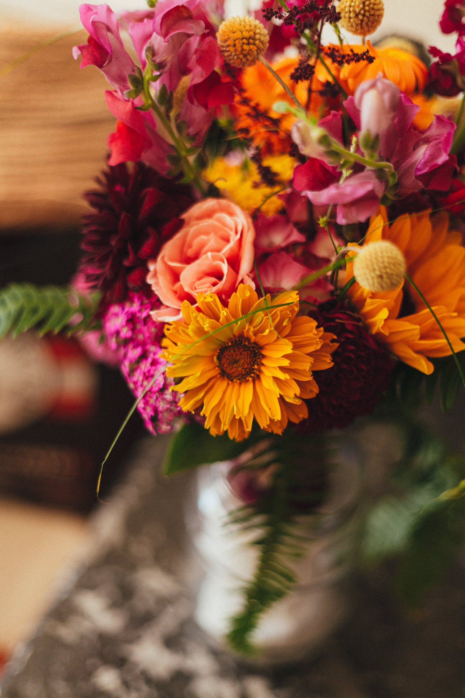 colourful bouquet of flowers, festival wedding, festival wedding photographer