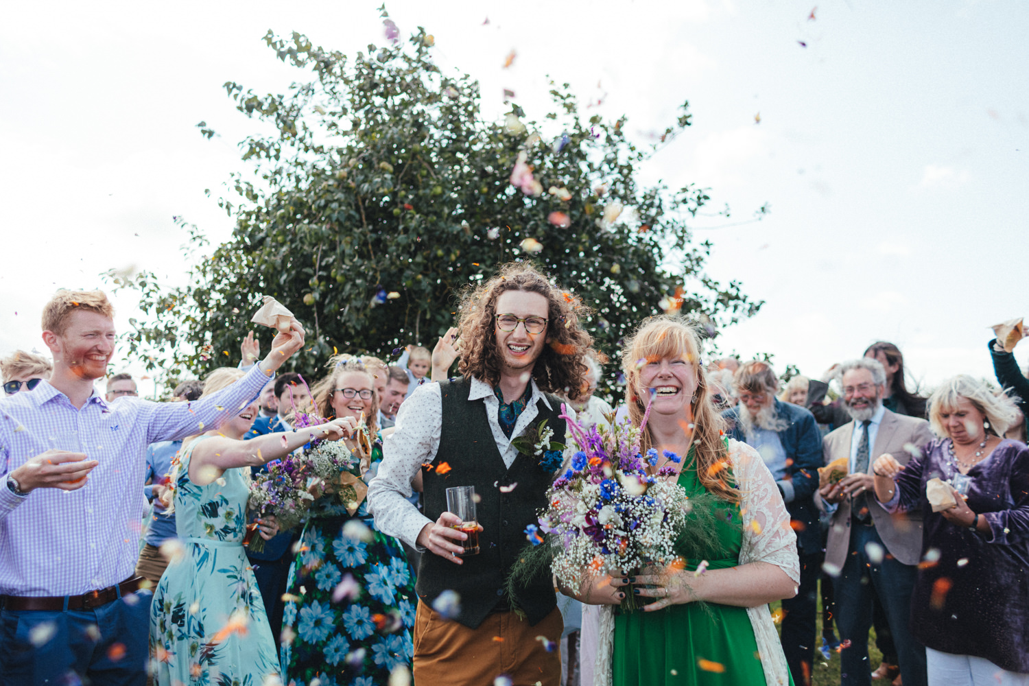 confetti, outdoor wedding photography, farm wedding, devon wedding, devon wedding photographer, alternative wedding, eco friendly wedding, green wedding