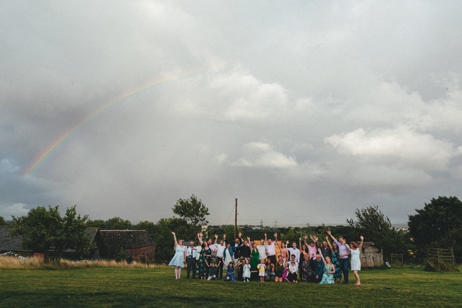 rainbow, wedding rainbow, august wedding, bride & groom, late summer wedding, outdoor wedding photography, farm wedding, devon wedding, devon wedding photographer, alternative wedding, eco friendly wedding, green wedding